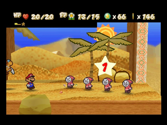 Paper Mario - Battle  - Since when did you guys become number 1? - User Screenshot